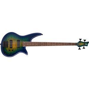 Jackson X Series Spectra Bass SBXQ IV Amber Blue Burst