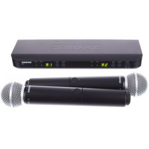 Microfon Fara Fir Shure BLX288/Beta58 Combo S8