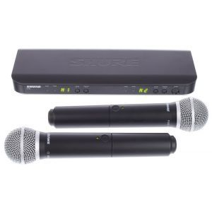 Microfon Fara Fir Shure BLX288/PG58 Combo T11