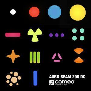 Moving Head Beam Cameo Auro Beam 200 DC