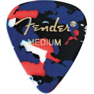 Fender 351 Shape Classic Celluloid Pick Medium Confetti