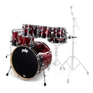 PDP by DW Concept Maple Red to Black Sparkle Fade