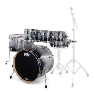 PDP by DW Concept Maple Silver to Black Fade