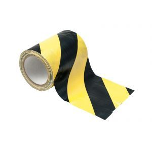Pod pentru cabluri Eurolite Cable Tape yellow/black 150mm x 15m