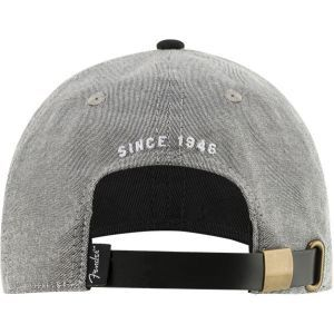 Fender Hipster Dad Hat Gray and Black