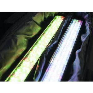 Set bare de leduri 2x Eurolite LED BAR-12 QCL RGBA + husa