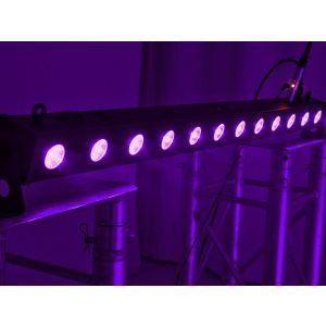 Set bare de leduri 4x Eurolite LED BAR-12 UV Bar + case