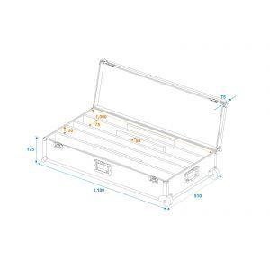 Set bare de leduri 4x Eurolite LED STP-7 Beam/Wash + case