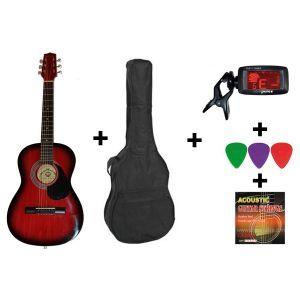 Hora Acoustic Guitar Standard Set 4/4 Red