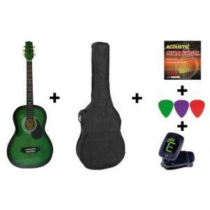 Set Chitara Acustica Hora Standard M 4/4 Verde