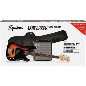 Squier Affinity Precision Bass PJ Pack - Brown Sunburst