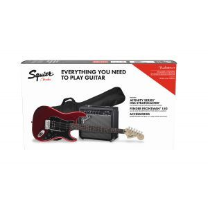 Set Chitara Electrica Fender Squier Affinity Stratocaster HSS Candy Apple Red