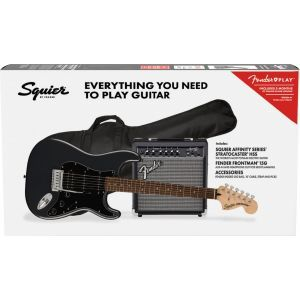 Squier Affinity Stratocaster HSS Pack - Charcoal Frost Metallic