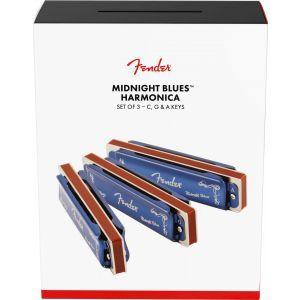 Fender Midnight Blues Harmonicas 3 Pack
