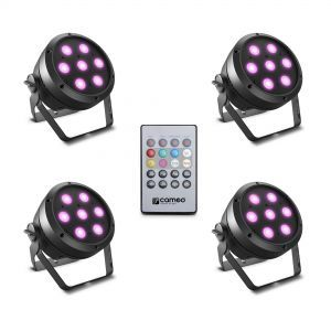 Set Proiectoare Led Cameo Root Par 4 Set 1
