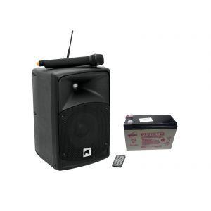 Sistem PA Wireless Omnitronic WAMS 08 BT cu Baterie