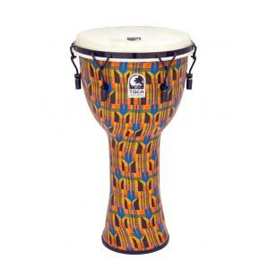 Toca Djembe Freestyle Mechanically Tuned SFDMX12K Kente Cloth